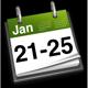 21st - 25th January
